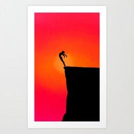 Sunset ballerina Art Print