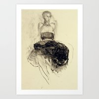 degas Art Prints featuring Hommage à Degas II by Ute Rathmann