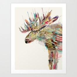 into the wild the moose Art Print