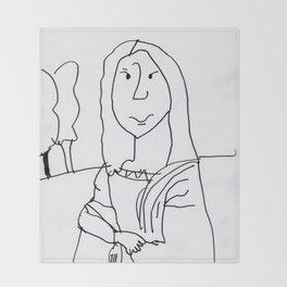 Caden's Mona Lisa Throw Blanket
