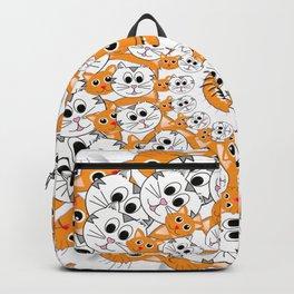 Creamsicle Calico Cat Mandala Backpack