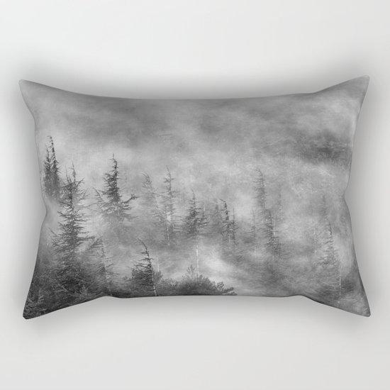 Misty forest. BW Rectangular Pillow
