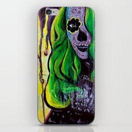 Citrus Sugar Skull iPhone Skin