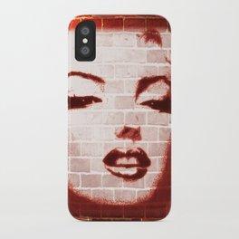 Marilyn Street Art on Brick Wall iPhone Case