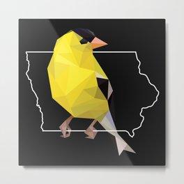 Iowa – American Goldfinch (Black) Metal Print