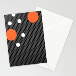 orange dots Stationery Cards