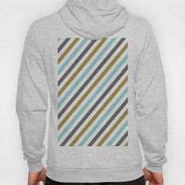 Mint color Diagonal stripe Hoody