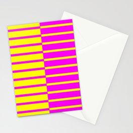 Canary Zebra Plays Piano Stationery Cards