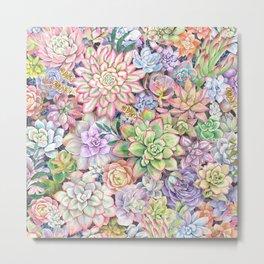 Succulent Garden #66 Metal Print