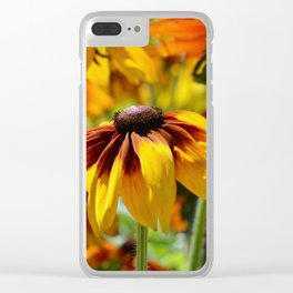 Flower meadow 128 Clear iPhone Case