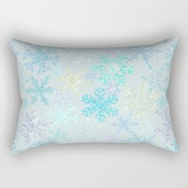 icy snowflakes Rectangular Pillow