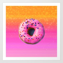 Donut color Art Print