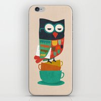 budi iPhone & iPod Skins featuring Morning Owl by Picomodi