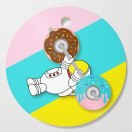 Astro Donut Dumbbell   Astronaut   Cosmonaut   pulps of wood Cutting Board