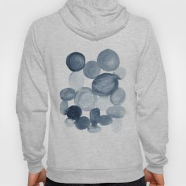 Pebbles Watercolor Abstract Hoody