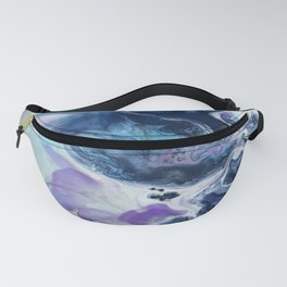 Navy Blue, Teal and Royal Purple Marble Fanny Pack