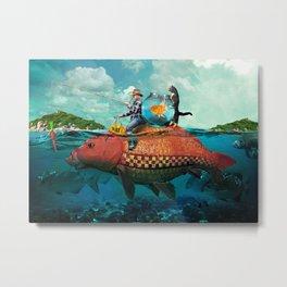 Fish Taxi Metal Print