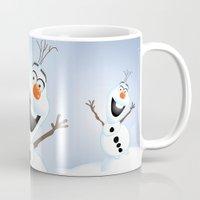 olaf Mugs featuring Olaf Frozen  by Lemo Boy