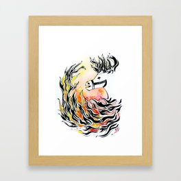 Flame Rider Framed Art Print