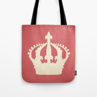 crown Tote Bags featuring crown by Carl Christensen