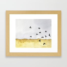 Autumn Crows Framed Art Print