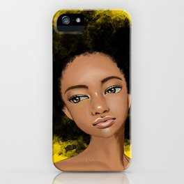 Girl portrait iPhone Case