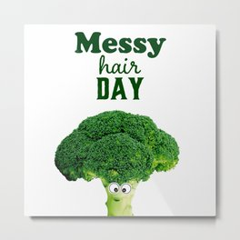 Messy hair day Metal Print