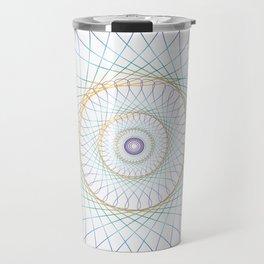 Iridescent Spirograph Pattern I Travel Mug