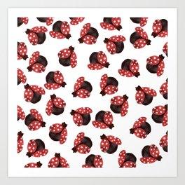 The Cuttest Ladybug Art Print