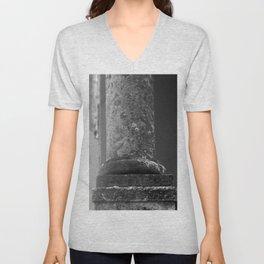 Stone column of a grey sky Unisex V-Neck