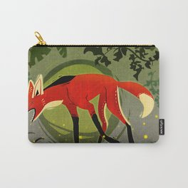 "Tribal Maned Wolf ""Fifty Shades of Green"" Carry-All Pouch"