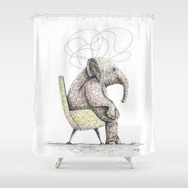 Sitting Elephant - Elefante Sentado Shower Curtain