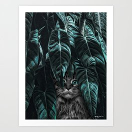 furr you, cat lovers. Art Print