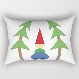 Gnome with trees Rectangular Pillow