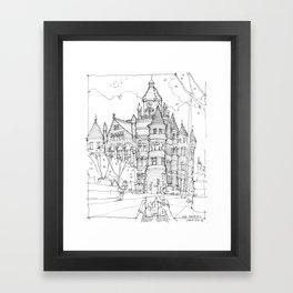 Red Museum Dallas! Framed Art Print