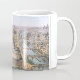 Paris art print Paris Decor office decoration vintage decor PANORAMA DU LOUVRE of Paris Coffee Mug