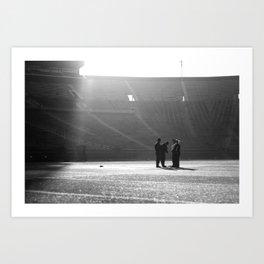 Stadium Sunrise. Art Print