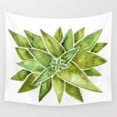 Aloe Vera – Green Palette Wall Tapestry