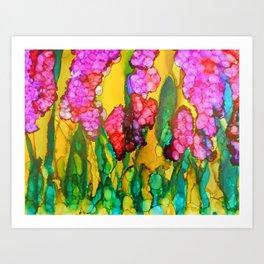 Pink Lilacs Art Print