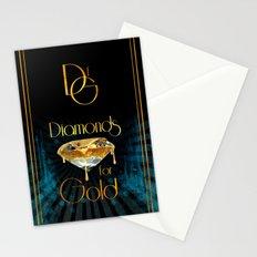 Diamonds for Gold Splatter Stationery Cards