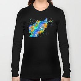 Afghanistan Map Long Sleeve T-shirt