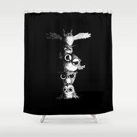 totem Shower Curtains featuring Totem by Det Tidkun