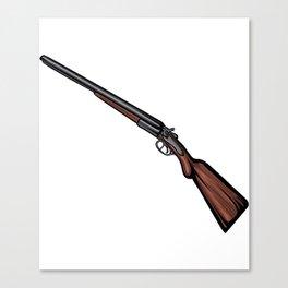 Shotgun Illustration Canvas Print