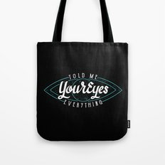 Behind Blue Eyes Tote Bag