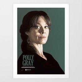 POLLY GRAY Art Print
