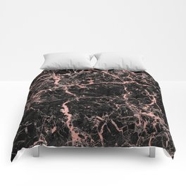 Marble Rose Gold - Someone Comforters