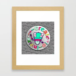 SketchBot Create To Inspire Framed Art Print