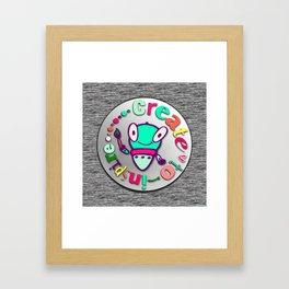 SketchBot Create To Inspire Framed Art Print