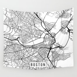 Boston Map Wall Tapestries Society - Boston in usa map