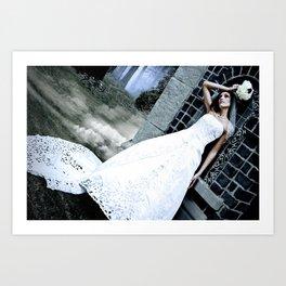 Dark bride Art Print